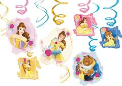©Disney Beauty And The Beast Value Pack Foil Swirl Decorations