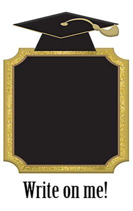 Gold Graduation Chalkboard Stand