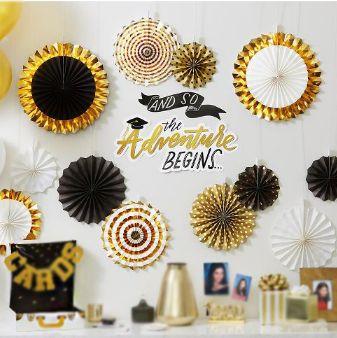 Gold Grad Deluxe Fan Decorating Kit