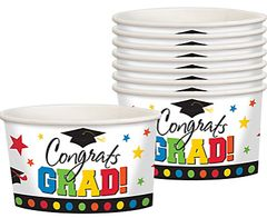 Multi Color Graduation Treat Cups, 8ct