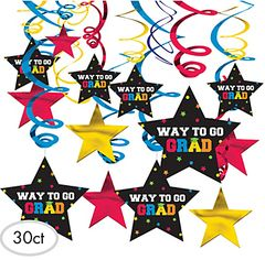 Multi Color Grad Swirl Decorations, 30ct