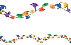Multi Grad Cap Metallic and Foil Wire Garland