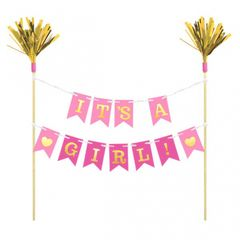 """It's A Girl"" Cake Banner Pick"