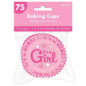 Baby Girl Baking Cups, 75ct