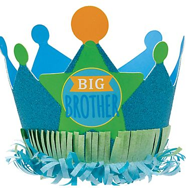 Big Brother Glitter Paper Crown