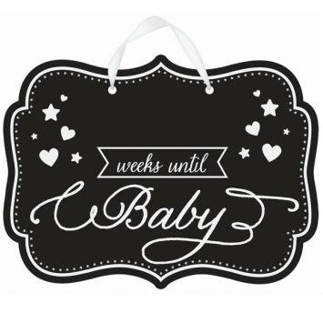 Weeks Until Baby Chalkboard Sign