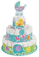 Baby Shower Diaper Cake Kit, 16pc