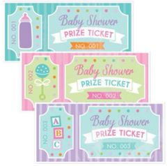 Baby Shower Prize Tickets, 48ct
