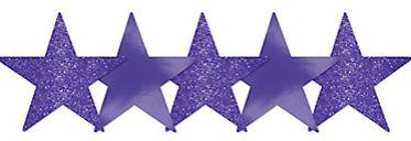 Mini Glitter Purple Star Cutouts, 5ct