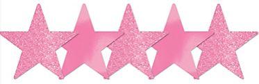 Mini Glitter Pink Star Cutouts, 5ct