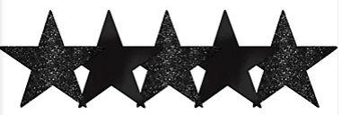 Star Cutouts - Jet Black, 5ct
