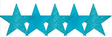 "Star Cutouts - Caribbean, 5"" - 5ct"