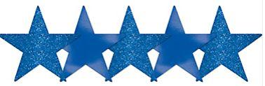 Star Cutouts - Bright Royal Blue, 5ct