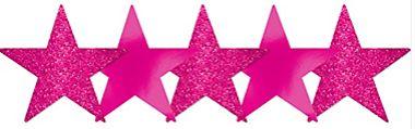 Star Cutouts - Bright Pink, 5ct