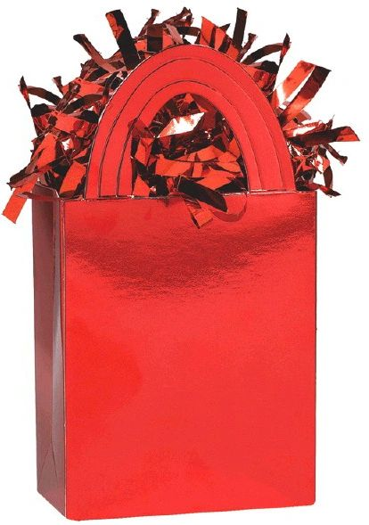 Mini Tote Balloon Weight - Red