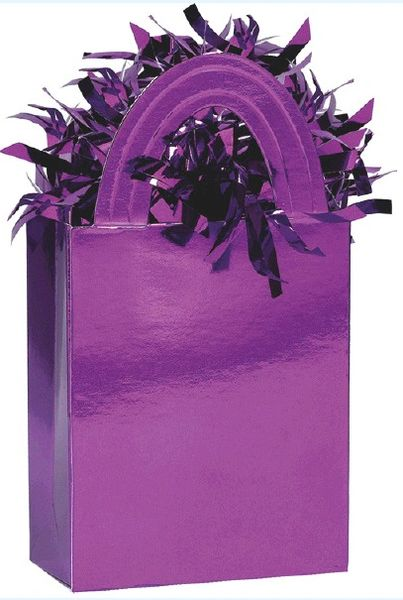 Mini Tote Balloon Weight - Purple