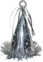Party Hat Balloon Weight - 01 Silver