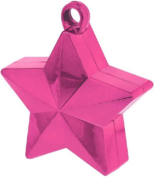 Bright Pink Star Foil Balloon Weight