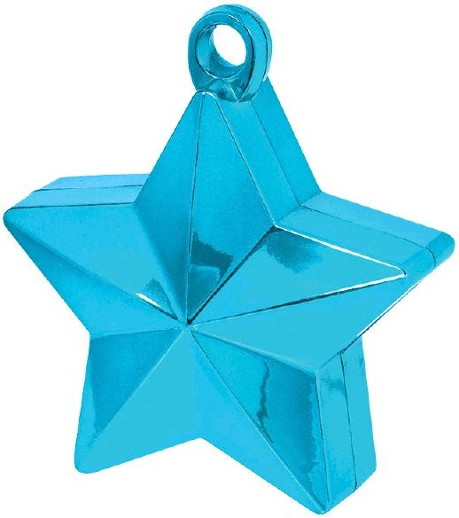 Caribbean Blue Star Foil Balloon Weight