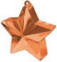 Orange Star Electroplated Balloon Weight