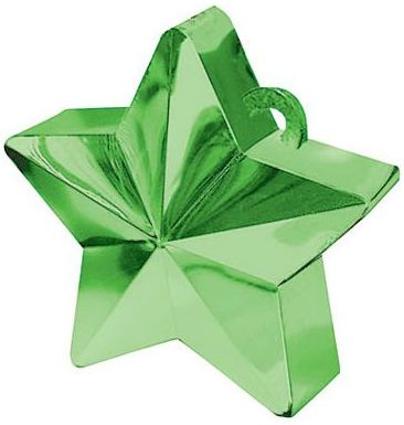 Green Star Electroplated Balloon Weight