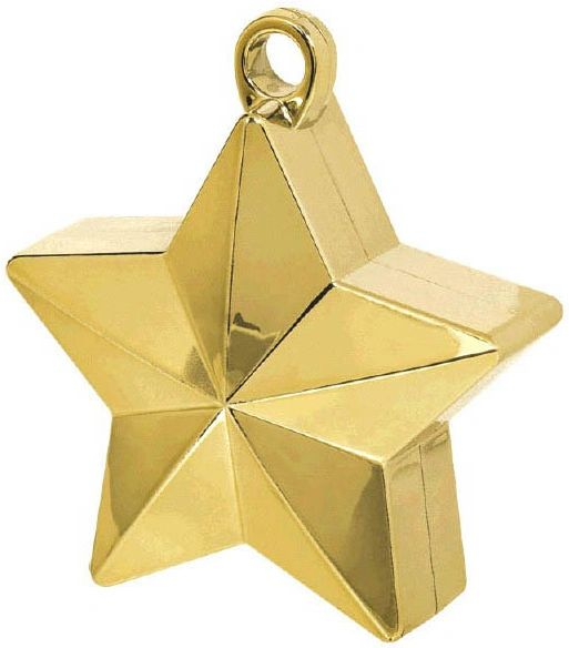 Gold Star Electroplated Balloon Weight