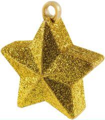 Gold Glitter Star Balloon Weight