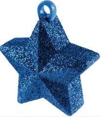 Blue Glitter Star Balloon Weight