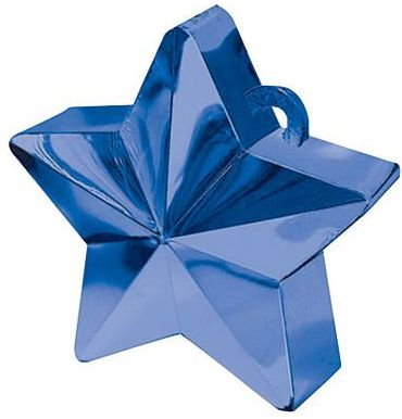 Blue Star Electroplated Balloon Weight