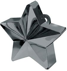 Black Star Electroplated Balloon Weight