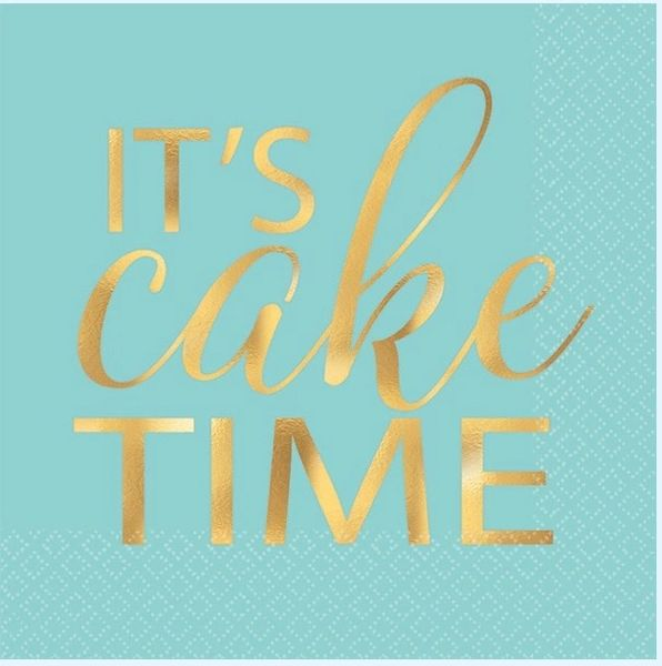 """It's Cake Time"" Beverage Napkins, 16ct"