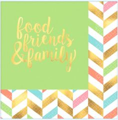 Eat, Drink & Be Happy! Hot Stamped Luncheon Napkins