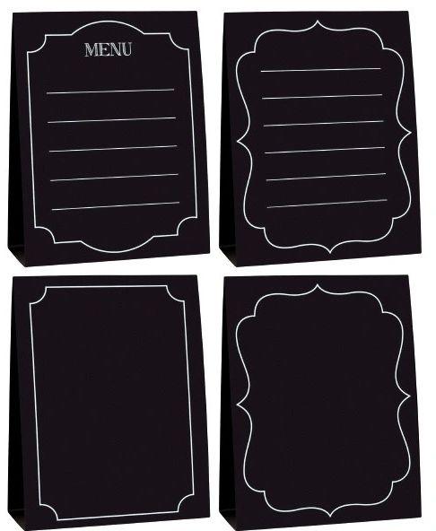 Large Chalkboard Paper Menu Cards