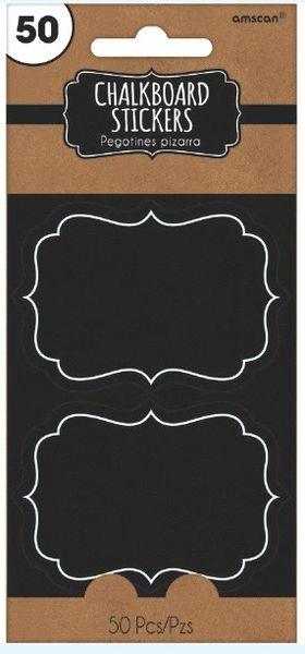 Chalkboard Paper Stickers, 50ct