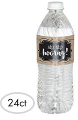 Kraft Paper Water Bottle Labels