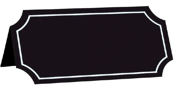 Chalkboard Paper Tent Card, 25ct