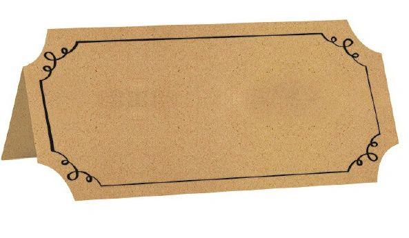 Kraft Paper Tent Cards, 25ct