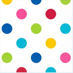Bright Rainbow Dots Beverage Napkins