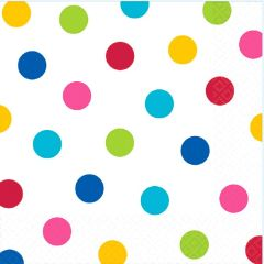 Bright Rainbow Dots Luncheon Napkins