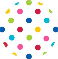 Bright Rainbow Dots Round Plates, 7""