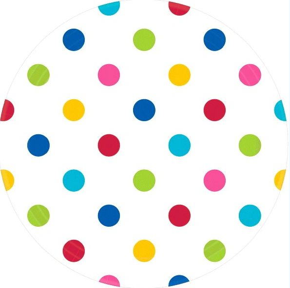 Bright Rainbow Dots Round Plates, 9""