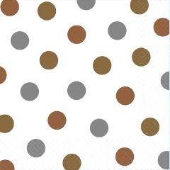 Mixed Metallic Dots Luncheon Napkins