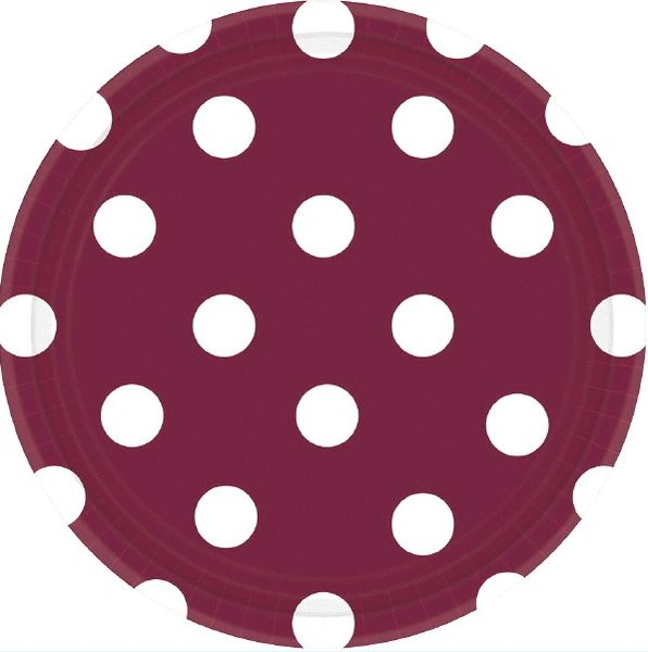 """Berry Dots, 7"""" Round Plates"""