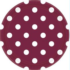 """Berry Dots, 9"""" Round Plates"""