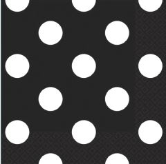 Black Dots Beverage Napkins