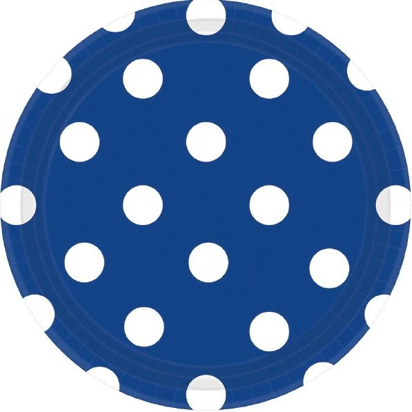 "Bright Royal Blue Plates, 7"" - Dots"