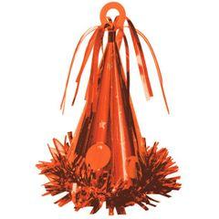Party Hat Balloon Weight - 08 Orange