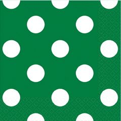 Festive Green Dots Beverage Napkins