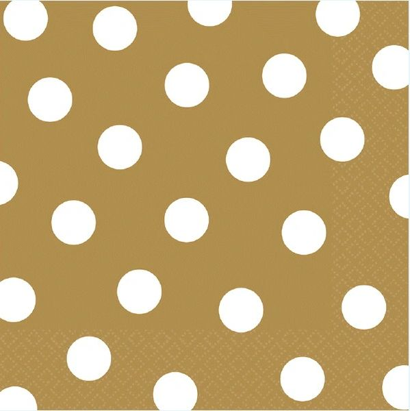 Gold Dots Luncheon Napkins
