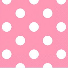 New Pink Polka Dots Beverage Napkins